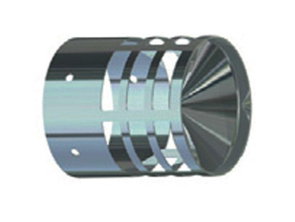 Griglia di aspirazione per tubo fumi caldaia da 80 mm