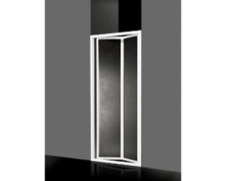 Porta A Due Ante A Soffietto Per Doccia In Acrilico 98 103 Cm H 185 Cm Profilo Bianco C E