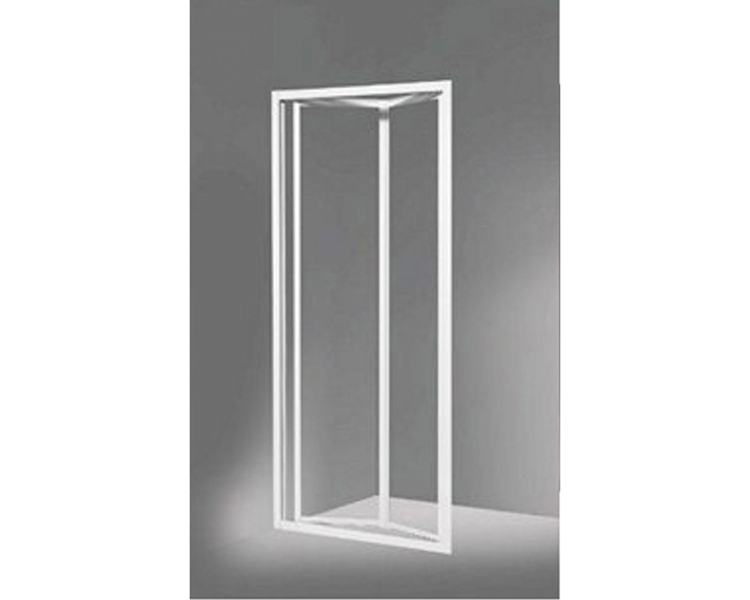 Porta a due ante a soffietto per doccia in cristallo stampato 3 mm 78 83 cm h 185 cm - Ante per doccia ...